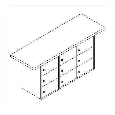 Shain Horizontal Locker Unit Workbench