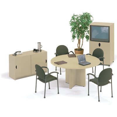 "ABCO 60"" Diameter Self Edge Round Top Gathering Table with X-Base"