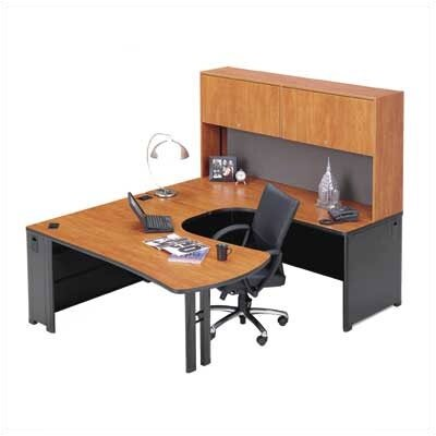 ABCO Endure U-Shape Left Configuration Executive Workstation with Hutch
