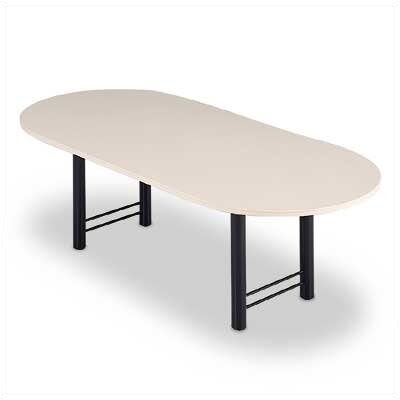 "ABCO 72"" Wide Oval Top Conference Table with H Base"