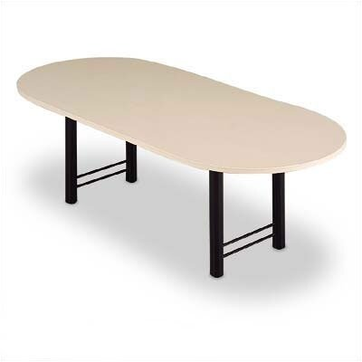 ABCO 144&quot; Wide Oval Top Conference Table with Slab Base