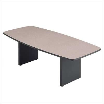 "ABCO 120"" Wide Boat Shape Top Conference Table with Curved Plinth Base"