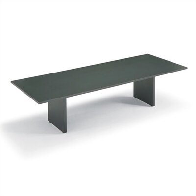 "ABCO 144"" Wide Rectangle Top Conference Table with Curved Plinth Base"