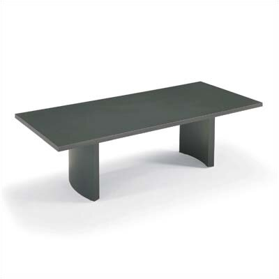 "ABCO 192"" Wide Two-Section Rectangle Top Conference Table with Curve Base"