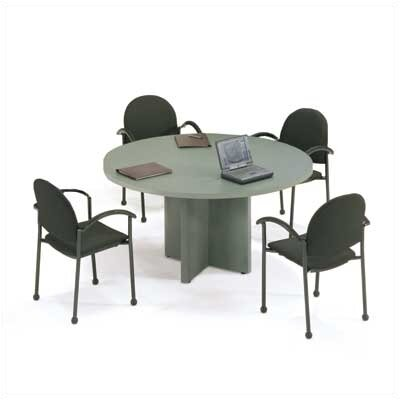 "ABCO 48"" Diameter Self Edge Round Top Gathering Table with X-Base"