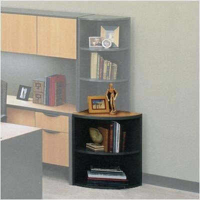 ABCO 29&quot; H Two Shelf Corner Bookcase