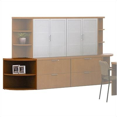 "ABCO Unity Executive Series 29"" H Corner Bookcase"