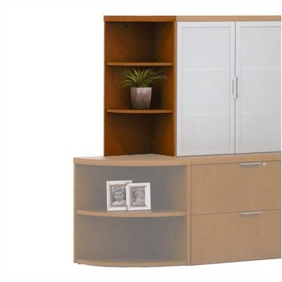 ABCO Unity Executive Series 38&quot; H Corner Bookcase
