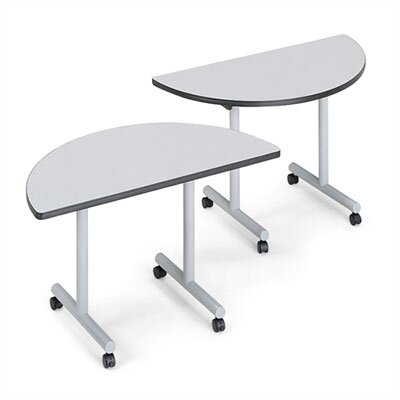 "ABCO Smart Tables: 24"" x 84"" Rectangle Thermofused Melamine Conference Table and Half Circle Kit"