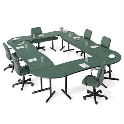 "ABCO Smart Tables: 30"" x 48"" High-Pressure Laminate Conference Kit (Concave Crescent)"