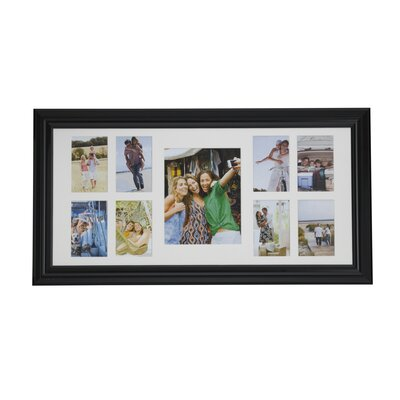 9 Opening Matted Plastic Collage Picture Frame