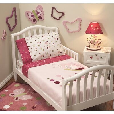 Lambs & Ivy Raspberry Swirl Toddler Bedding Collection