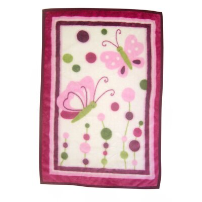 Lambs & Ivy Raspberry Swirl 4 Pack Flannel Blanket