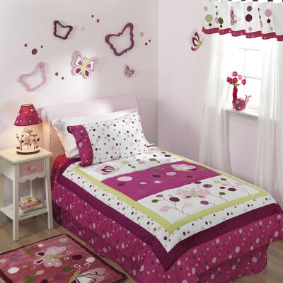 Lambs & Ivy Raspberry Swirl Twin Bedding Collection