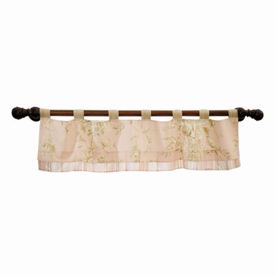 Lambs & Ivy Little Princess Cotton Blend Tab Top Tailored Curtain Valance