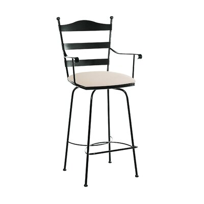 Ladder Back Swivel Barstool with Arms