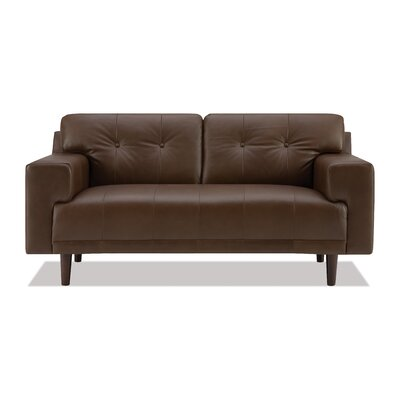 EQ3 Byrd Leather Loveseat