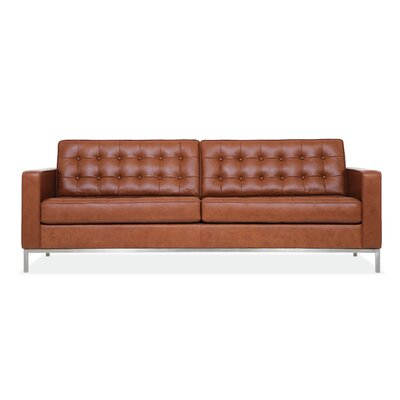 Reverie Leather Convertible Loveseat