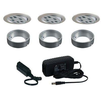 Jesco Lighting 3 Light Adjustable Round Slim Disk Kit
