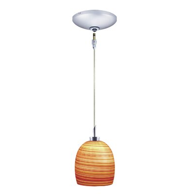 Jesco Lighting Faris 1 Light Pendant and Canopy Kit