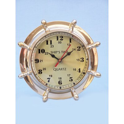 Double Dial Porthole Wheel Clock