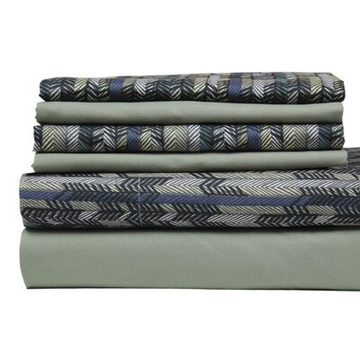 Texture Printed Stripe Sheet Set