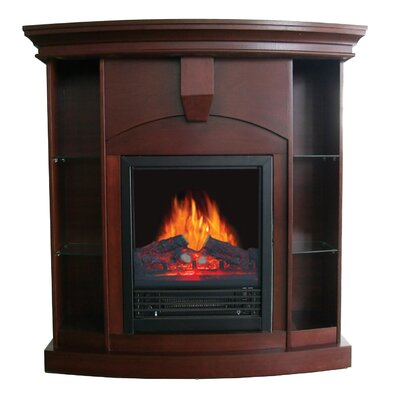 cherry wood fireplace wayfair