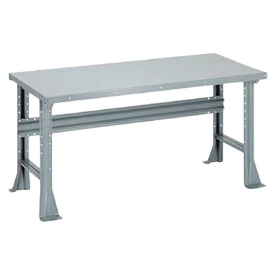 Penco Open Work Bench - Steel Top, Fixed Height