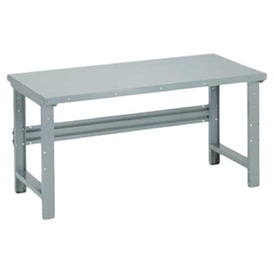 Penco Open Work Bench - Steel Top, Adjustable Height