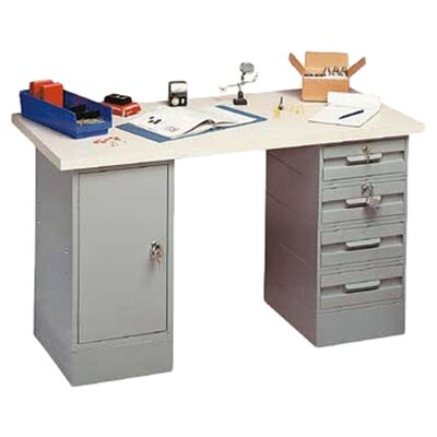<strong>Penco</strong> Modular Work Benches - Steel Top, 2 Cabinets