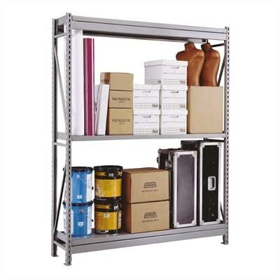 Penco Wide Span Shelving Basic Units - With 3 Steel Shelves