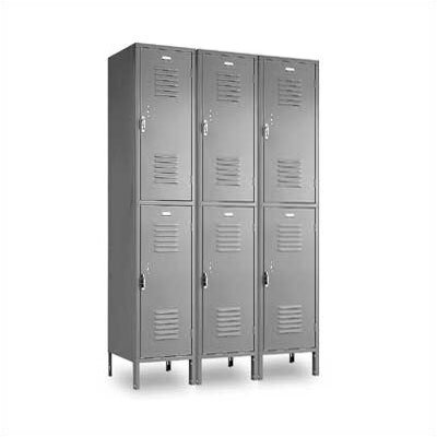 Penco Vanguard Double Tier 3 Wide Locker (Unassembled)