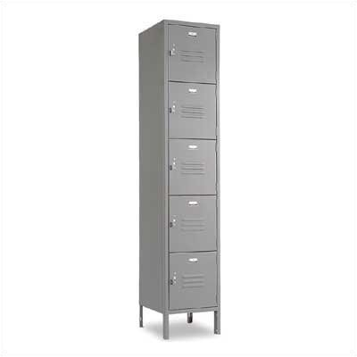 Penco Vanguard Unit Packaged Lockers - Five Tiers - 1 Section (Assembled)
