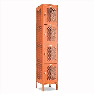 Penco Invincible II Lockers- Four Tier- 1- Section (Unassembled)