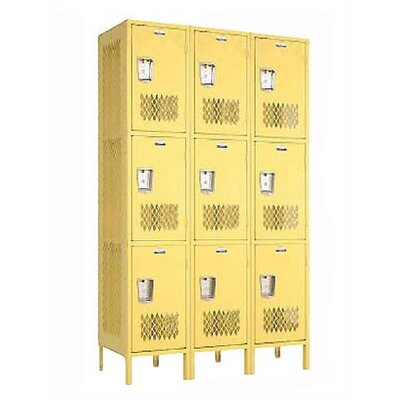 Penco Invincible II Triple Tier 3 Wide Locker (Assembled)