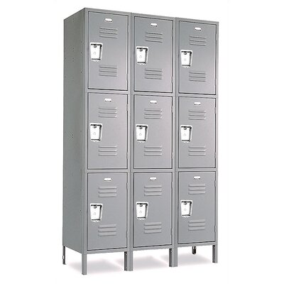 Penco Vanguard Triple Tier 3 Wide Locker (Assembled)