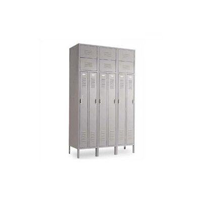 Penco Vanguard Unit Packaged Lockers - Two Person - 3 Sections (Assembled) with Slope Top and Closed Base