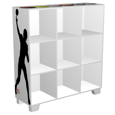 "My Owners Box CubeIts Sports 9 Cube 36"" Bookcase"