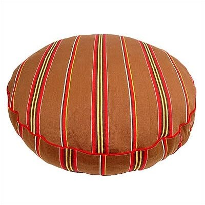 George SF Brown Ticking Stripe Round Pet Bed