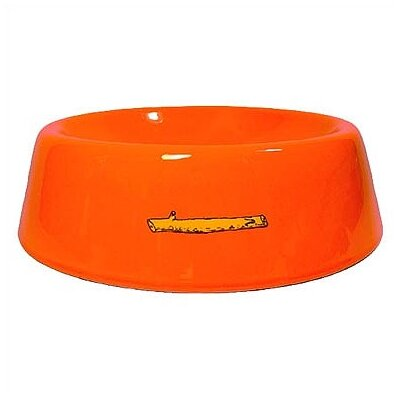 George SF Stick Logo Slope Side Pet Bowl