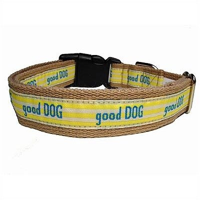 "George SF ""Good Dog"" Cotton Tiny Dog Collar"