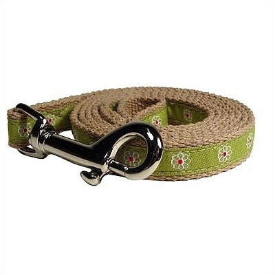 George SF Green Flower Cotton Tiny Dog Leash