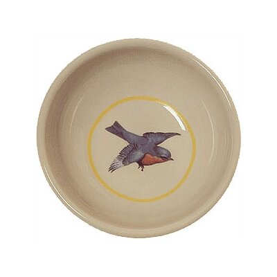 George SF Blue Bird Porcelain Cat Bowl