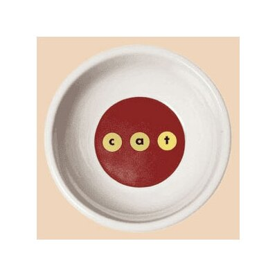 George SF Modern c-a-t Porcelain Cat Bowl