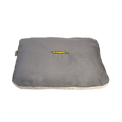 Rectangular Pet Bed Cover and Mattress Set in Smokey Blue