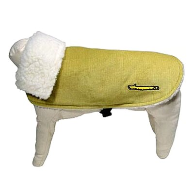 Corduroy Dog Car Coat in Lime