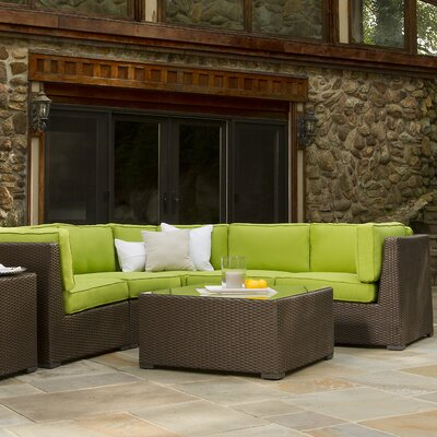 Jupiter Wicker 5 Pieces Sectional
