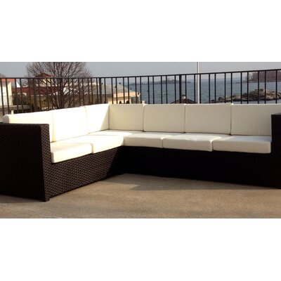ElanaMar Designs South Hampton 4 Piece Sectional Seating Group with Cushions