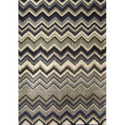 Kalora Nuance Blue Grey Chevron Rug