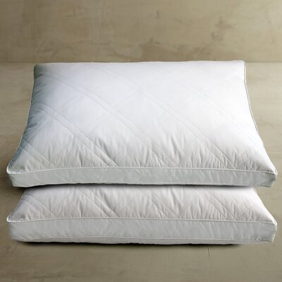Blue Ridge Home Fashions 233 Thread Count Double Diamond Quilted White Goose Feather Jumbo Pillow (Set of 2)